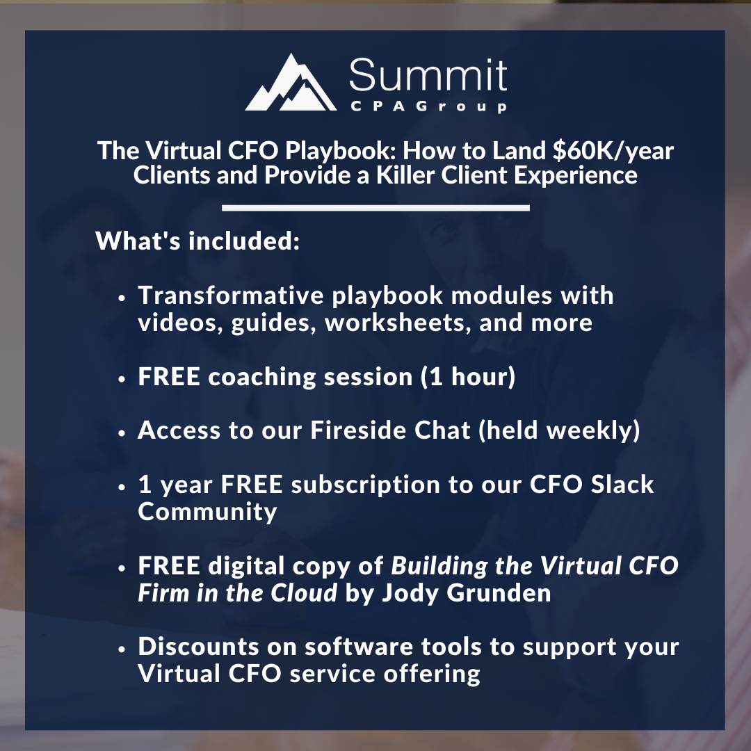 The Virtual CFO Playbook Offerings