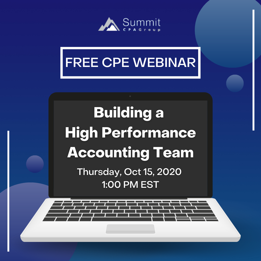 Building a High Performance Accounting Team