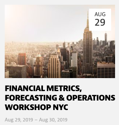 Financial Metrics Workshop - NYC