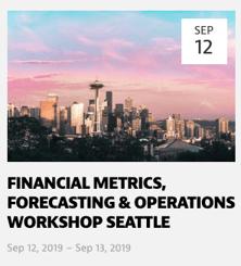 Financial Metrics Workshop - Seattle