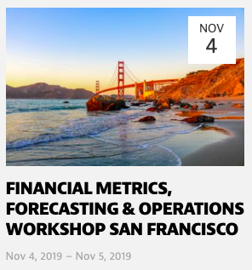 Financial Metrics Workshop - San Francisco