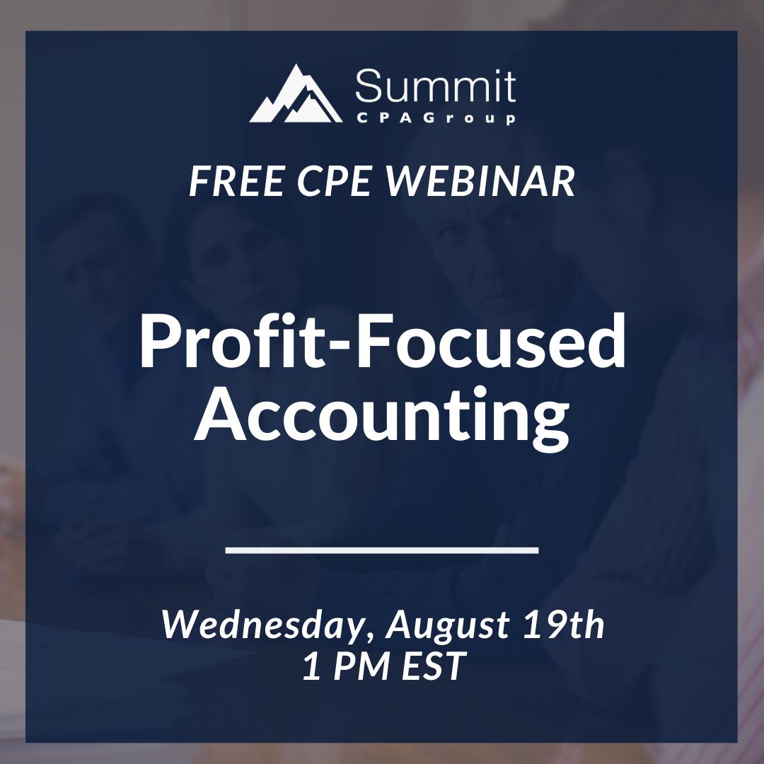 CPE Webinar: Profit-Focused Accounting