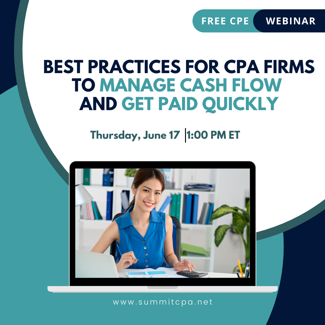 Free CPE Webinar: Manage Cash Flow and Get Paid Quickly