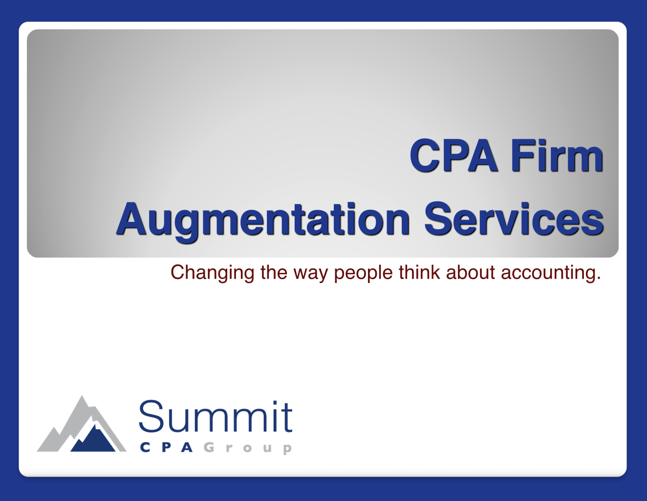 CPA Augmentation Guide
