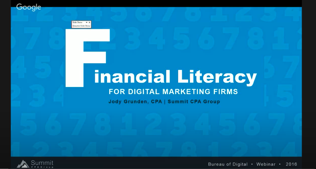 Financial Literacy for Creative Service Companies