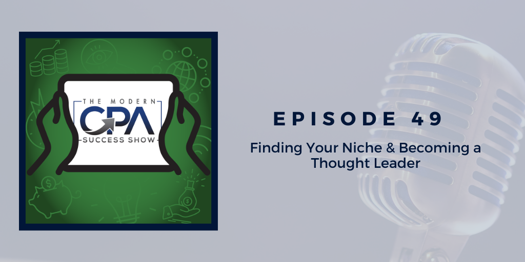Becoming a thought leader and finding your niche