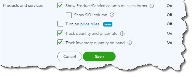 Creating Product Records in QuickBooks