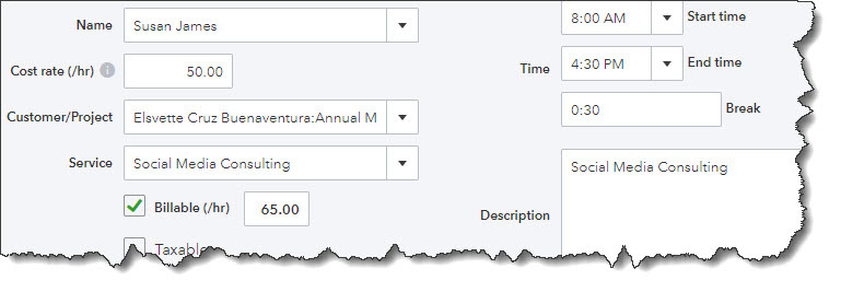 Billing Your for Expenses and Time in QuickBooks