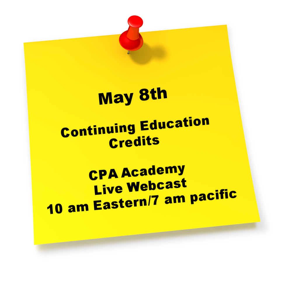 Reminder: CPA Academy Webcast Today